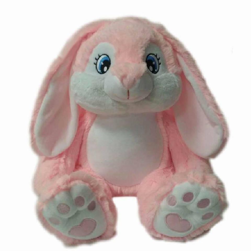 bunny pink personalised teddy wow teddy